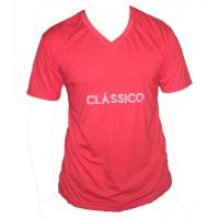 Camiseta Masculina Decote V Classico Vermelha 001