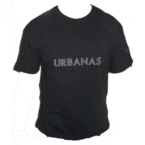 Camiseta Masculina Gola Careca Urbanas  Preta 002