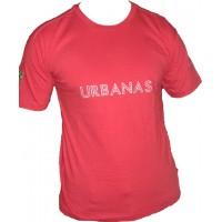 Camiseta Masculina Gola Careca Urbanas  Vermelha 002