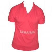 Camiseta Masculina Polo Urbanas  Vermelha 003