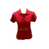 Blusa Polo Feminina Urbana Arte da Dança Vermelha 003