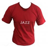 Camiseta Masculina Gola Careca Jazz Vermelha 002